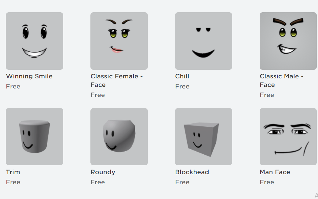 Free roblox items for Body parts
