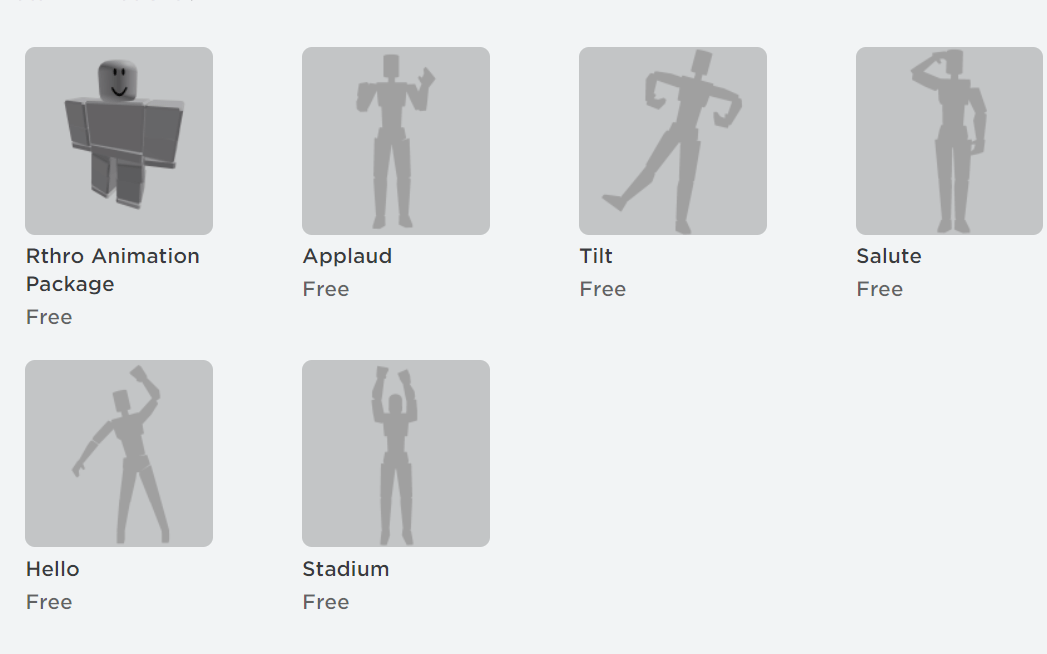 Free Avatar Animations for Roblox 2021