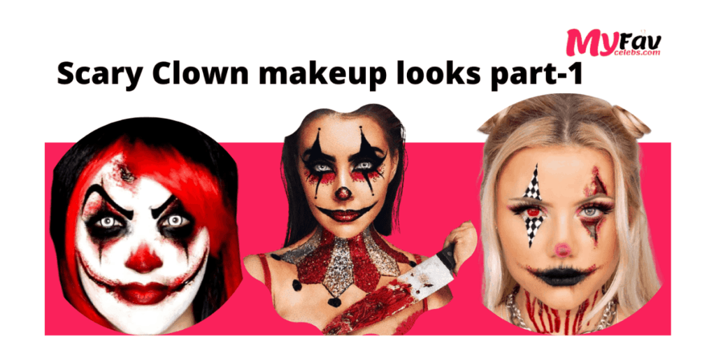 Scary Clown Makeup looks