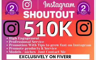 Shoutout on Instagram celebrity fan pages